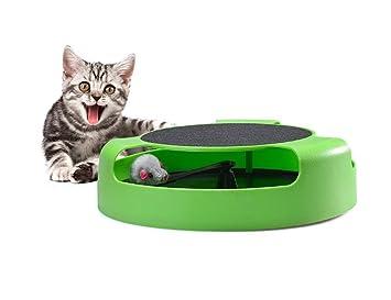 JIMEI Juguetes interactivos para gatos ratón y un rascador para gatos de Rascador de Rascador para Rascador de Rascador de Rascador de Ratón, Juguete Verde: ...