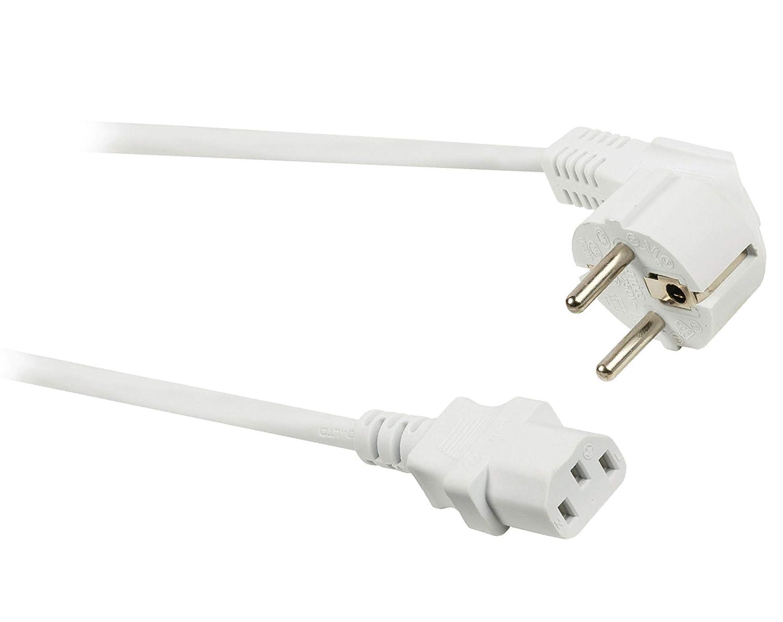 Eurosell Cable de alimentación kaltgerätekabel IEC320 Cable Tipo F ...