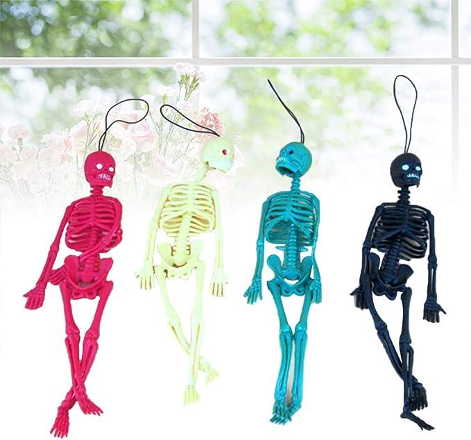 Skeleton Human Model Skull Full Body Figure Mini Toy Phone Hanger Halloween Gift
