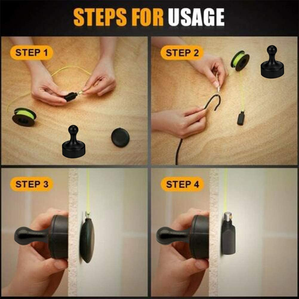 Wiremag Puller,Magnet Pull Fishing Wire for Walls,Magnetic Cable Fishing Tools,Magnetic Threader Professional Snap Wire Puller Guider Cable Running Device for Your Home and Outdoor