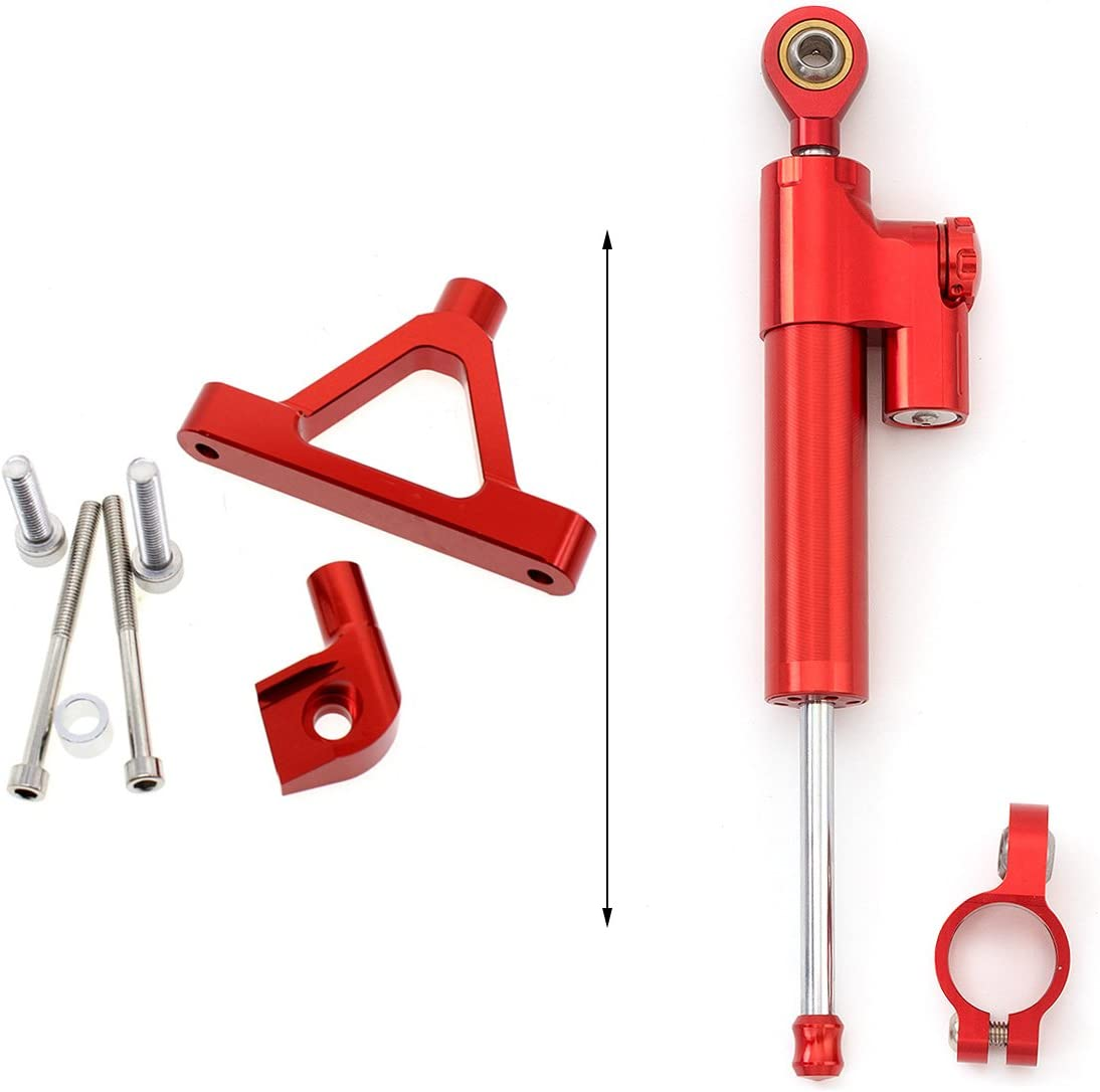FXCNC Racing Motorcycle CNC Steering Damper Stabilizer Buffer Control Bar With Mounting Bracket Kit Full Set Fit For Kawasaki Ninja ZX-10R ZX10R 2004 2005