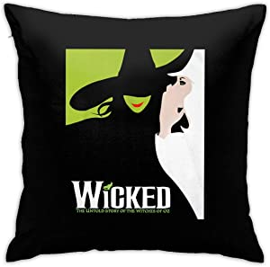 Gerneric Wicked The Musical Designs Pillowcase Throw Pillow Covers 18 X 18 Inch/45 X 45 cm Double-Sided Printing