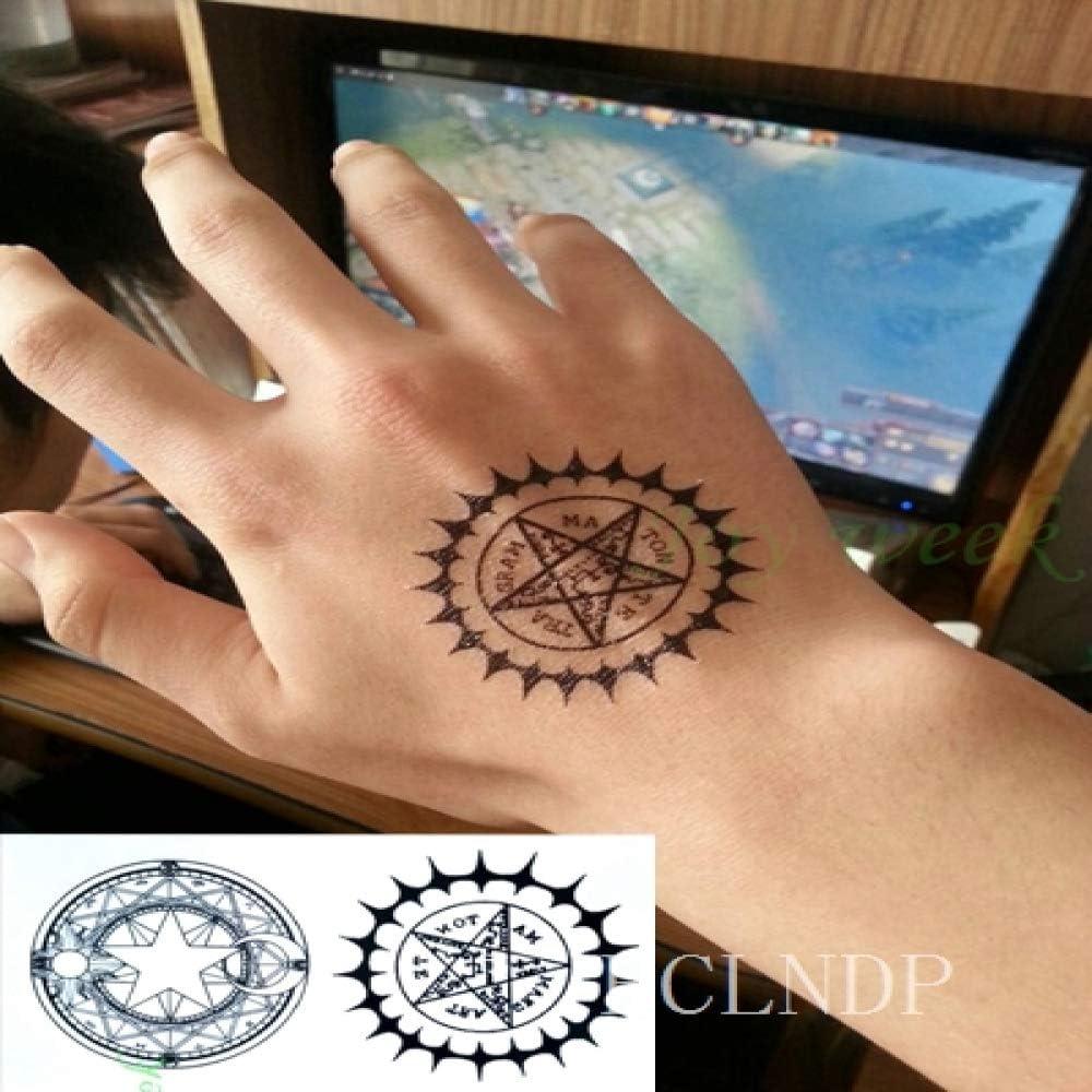ljmljm 5 Piezas Pegatinas de Tatuaje a Prueba de Agua brújula ...