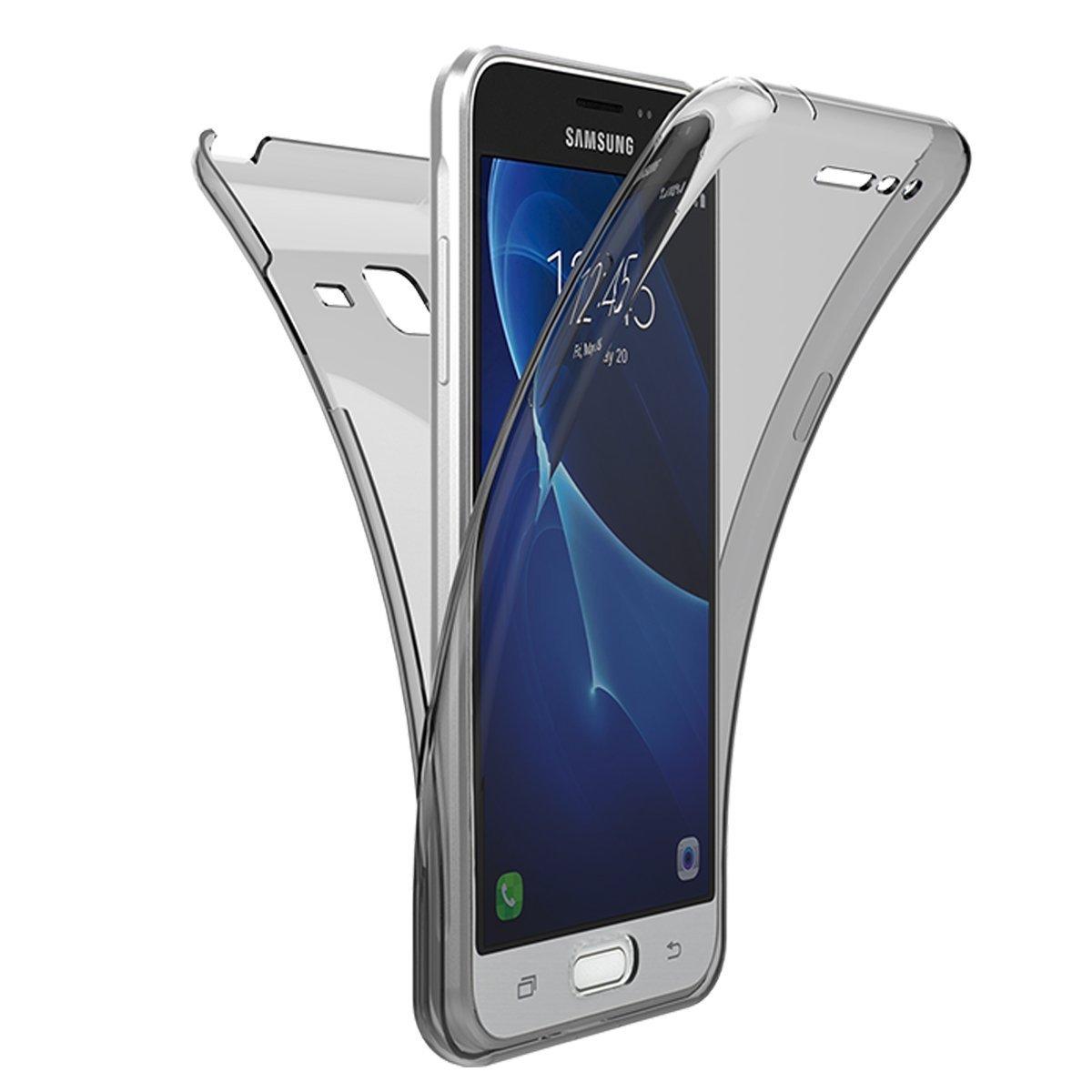 Funda Samsung Galaxy J5 2015, YSIMEE Transparente Silicona 360° Full Body Fundas para Samsung Galaxy J5 2015 Carcasa Protección Bumper Antigolpes Fina Flexibles Delanteros y Traseros para Samsung Galaxy J5 2015-Azul