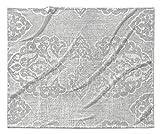 KAVKA Designs Salamanca Fleece Blanket, (Grey) - , Size: 90x90x1 - (TELAVC1434SUB9)