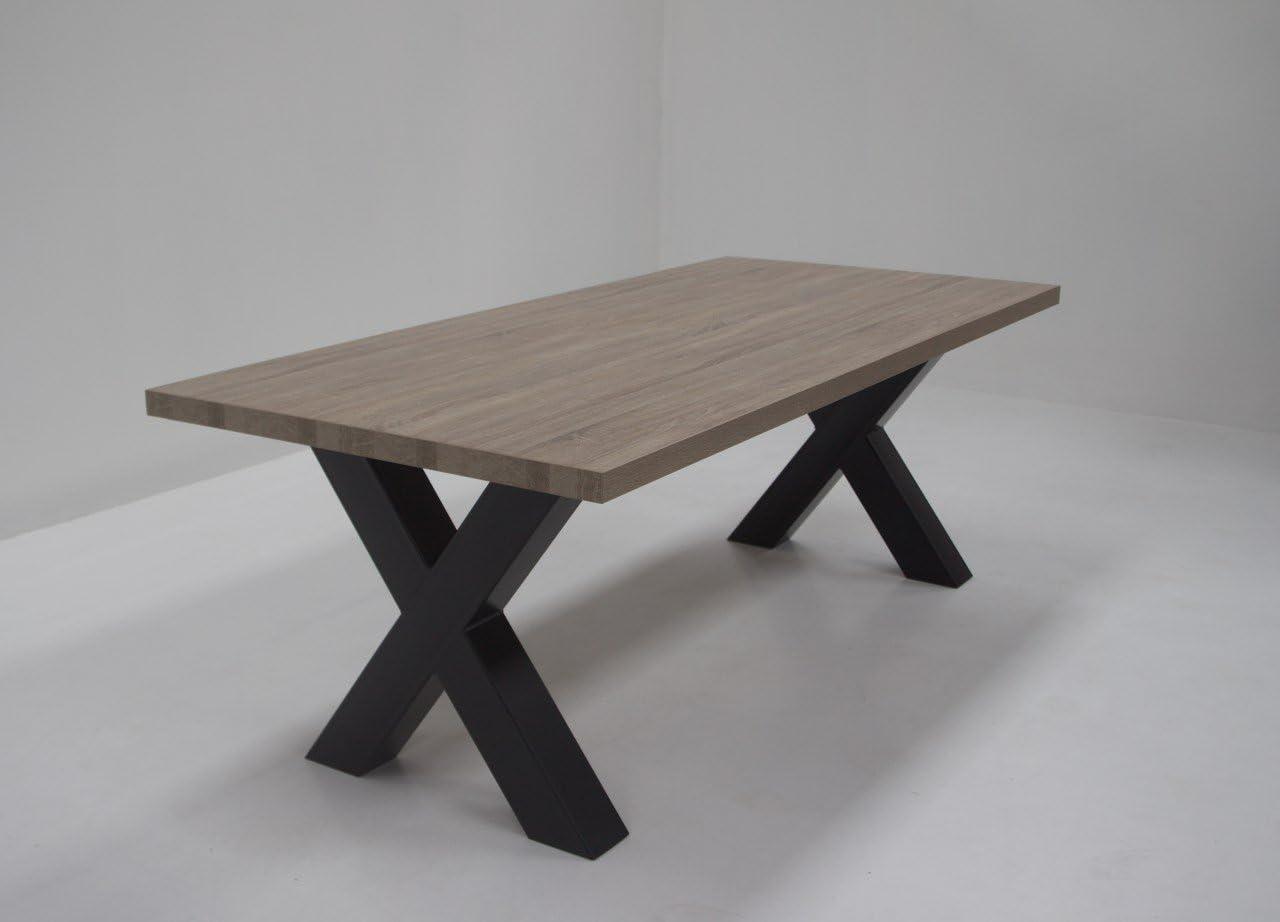 Idea Esstisch mit Metall x-Beinen Xenos, Tischplatte 43 mm in