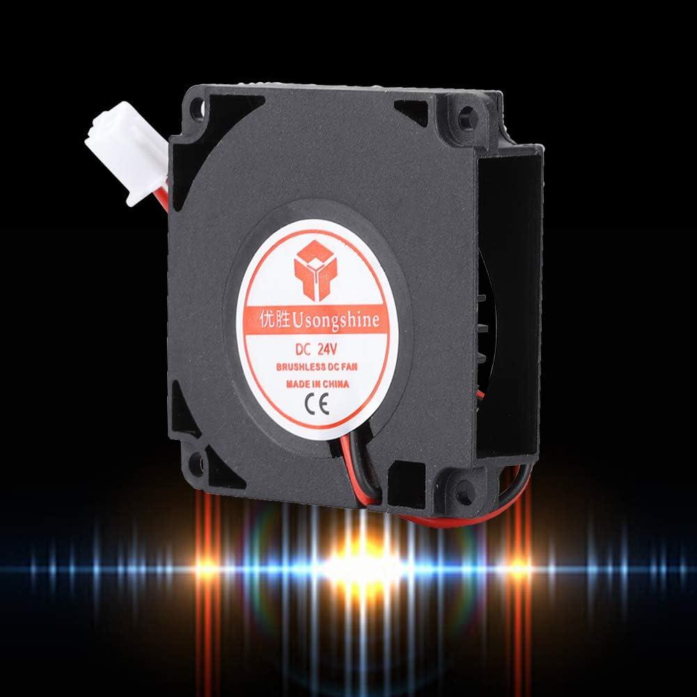 Zopsc 4010mm Blower Fan 24V 2-Pin 3D Printer Cooler Waterproof Electric Fan High Heat Dissipation 404010mm//1.571.570.39in