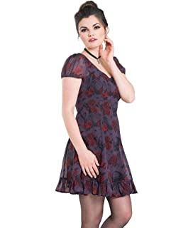 Hell Bunny New Collection Spin Doctor Donnatella Renaissance Print Dress