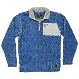 Southern Marsh Piedmont Range Sherpa Pullover (Extra Small, French Blue & Mustard)