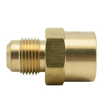 """5 x Nuevo Latón 45 ° FLARE 3//8/"""" OD x 1//2/"""" NPT MacHo Conector adaptador del tubo"""