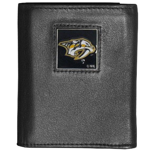 (NHL Nashville Predators Genuine Leather Tri-Fold Wallet)