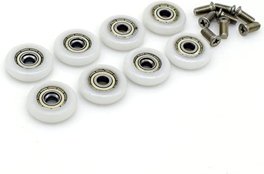 Ruedas de repuesto para puerta de ducha corredera, 8 unidades, 23 mm de diámetro: Amazon.es: Bricolaje y herramientas