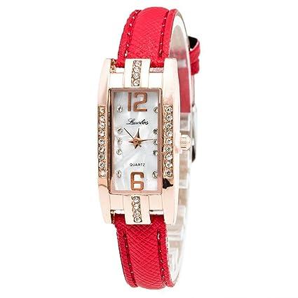 Xinantime Relojes Mujer,Xinan Reloj de Pulsera Cuarzo de Las Mujeres Moda (Rojo)
