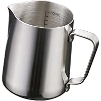 MagiDeal Stainless Steel Coffee Frothing Milk Tea Latte Jug With Scale