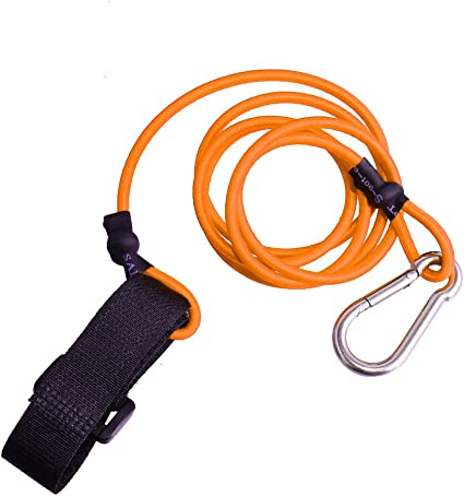 kayak canoe paddle leash fishing rod holder accessory leash with carabiner—AY