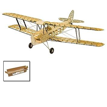 dw hobby mini tiger moth balsa wood model aircraft diy electric