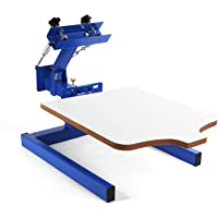 VEVOR Screen Printing Machine 17.7x21.7Inch Screen Printing Press 1 Color 1 Station Silk Screen Printing for T-Shirt DIY Printing Removable Pallet (1 Color 1 Station)