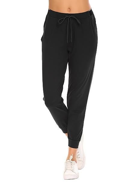 e54ccc3e50 Amiyoi Women's Sweatpants Yoga Workout Athletic Joggers Pants Pockets