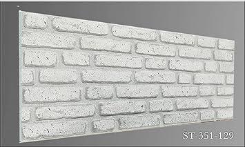 Wandpaneele Steinoptik wandverkleidung steinoptik wandpaneele st351 129 amazon de baumarkt