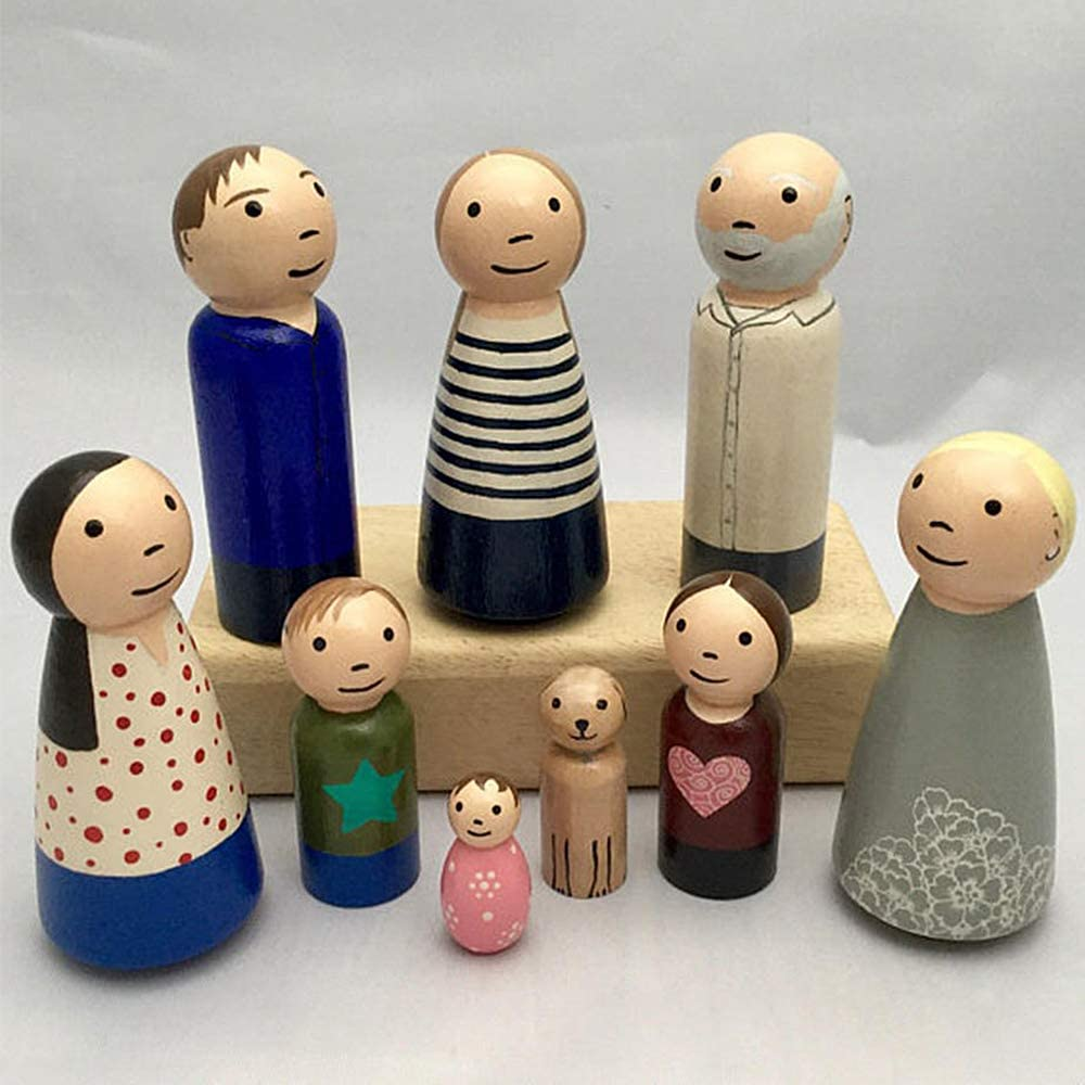 50 Piece Unfinished Wooden Peg Dolls Size 35mm 43mm 55mm 65mm