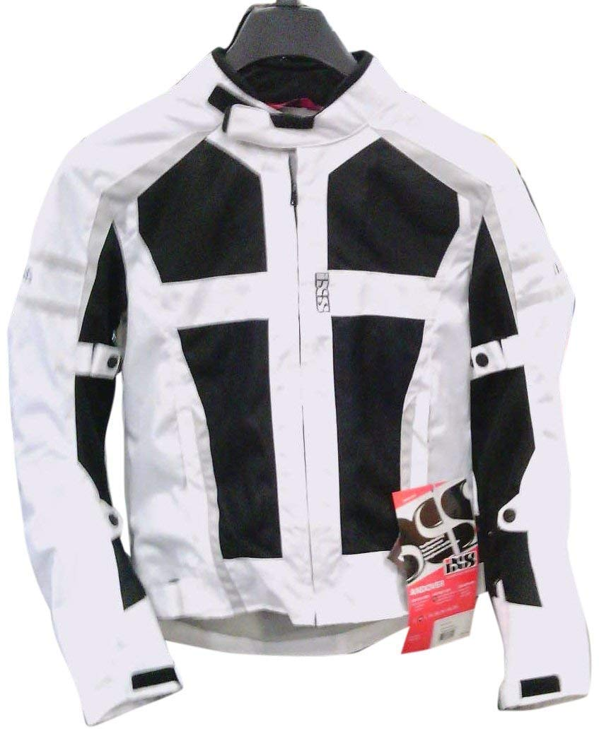 IXS Men's Andover Jacket (White/Black/Red, Large)