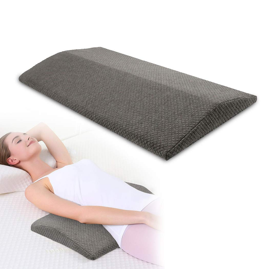 Lumbar Support Pillow for Lower Back Pain Multifunctional Memory Foam Orthopedic Super Lumbar Support Cushion for Hip,Knee,Spine Alignment and Sciatic Nerve Pain Relief