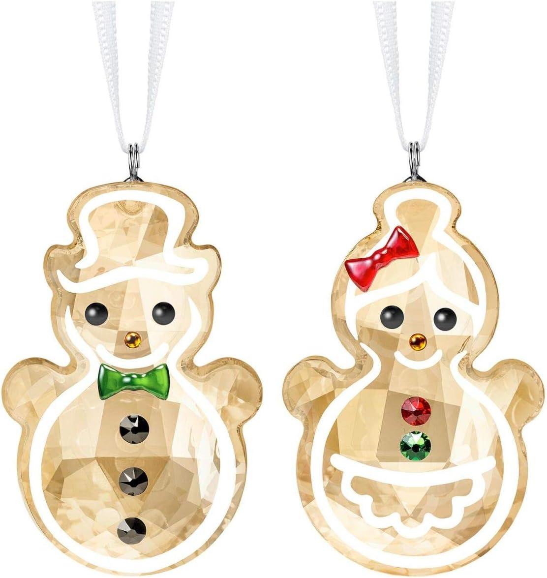 Swarovski Crystal Gingerbread Couple Ornament
