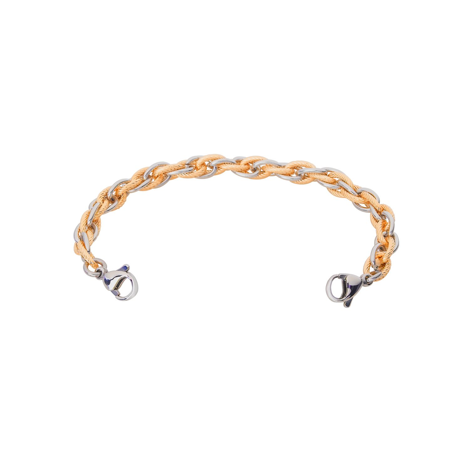 Divoti Inter-Mesh Gold & Silver Medical Alert Replacement Bracelet for Women - 5.5''