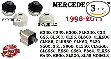 Mercedes Benz CLK500 E550 S430 S500 Front Motor Mounts /& Rear Trans Mount Kit