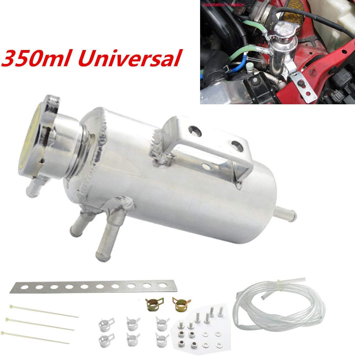 800ml Overflow Catch Tank Radiator Coolant Expansion Tank Bottle Header Aluminum