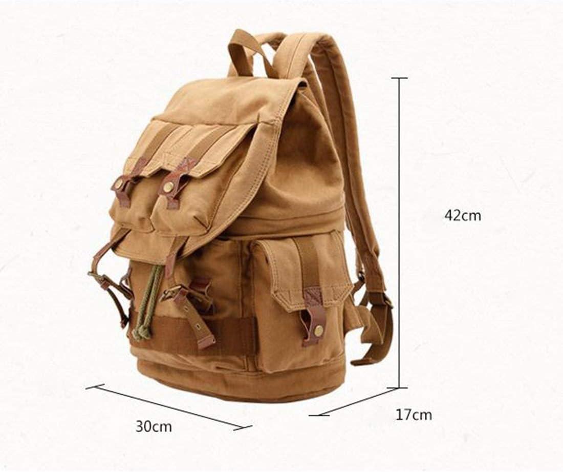 Color : Khaki AIYAMAYA Mens SLR Camera Bag Backpack Photography Canvas Bag Digital Package