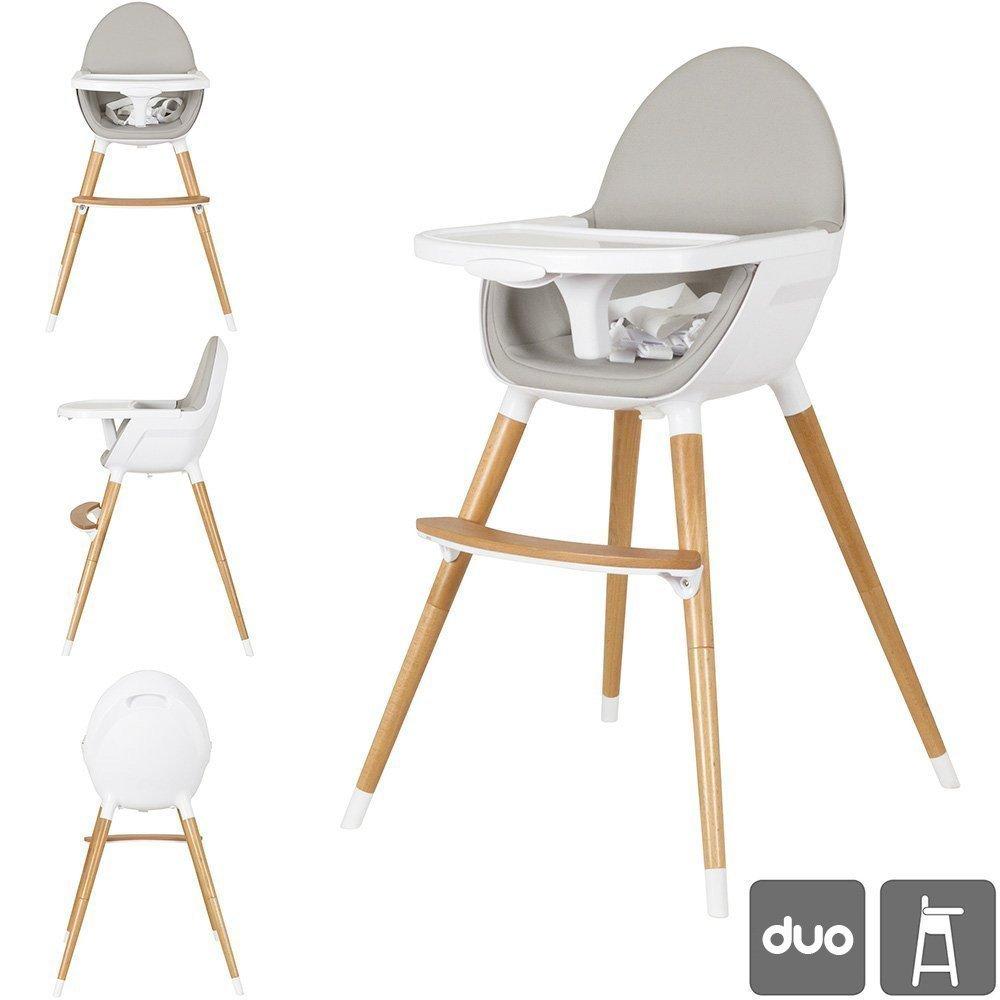 Star Ibaby Duo Chaise haute pour bé bé . Convertible en Chaise . Plateau amovible . Mousse siè ge ultra confortable. duo2