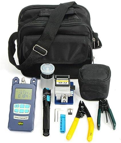 Fiber Optic FTTH Tool Kit with FC-6S Cutter Fiber Cleaver Optical Power Meter Finder