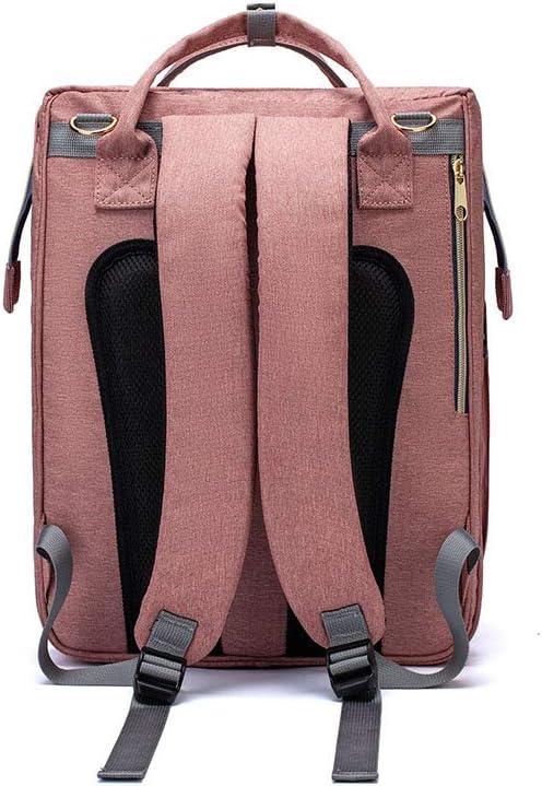 2 in 1 Folding Crib Bapa Multifunctional Large-Capacity Diaper Bag Utility to Use Grey