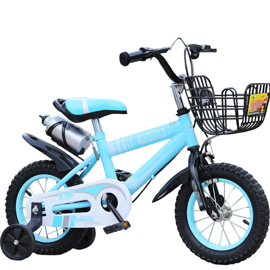 KANGR-子ども用自転車 子供用自転車マウンテンバイクに適した2-3-6-8ボーイズとガールズ子供用おもちゃのハンドルバー/サドルの高さはトレーニングホイールで調節可能ウォーターボトルとホルダー-12 / 14/16/18インチ ( 色 : 青 , サイズ さいず : 16 inches ) B07BTWM7G4 16 inches|青 青 16 inches