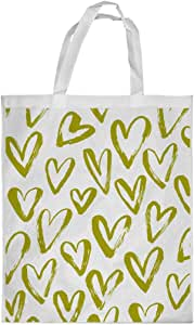 hearts Printed Shopping bag, Medium Size