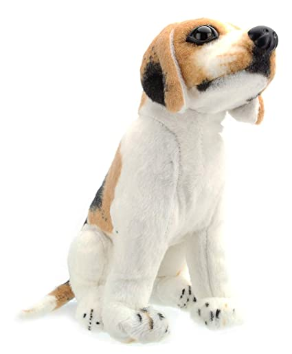 Tickles White Sitting Dog 44 cm