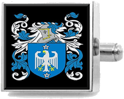 Select Gifts Mcclure Ireland Family Crest Surname Coat Of Arms Cufflinks Personalised Case