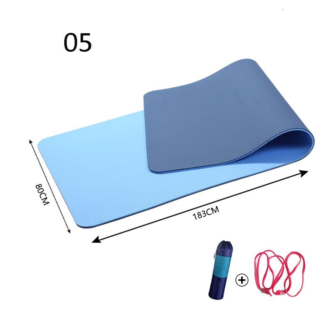 E EU8 Tapis de Yoga Tapis de Yoga Anti-dérapant sans goût Tapis de Fitness 6mm