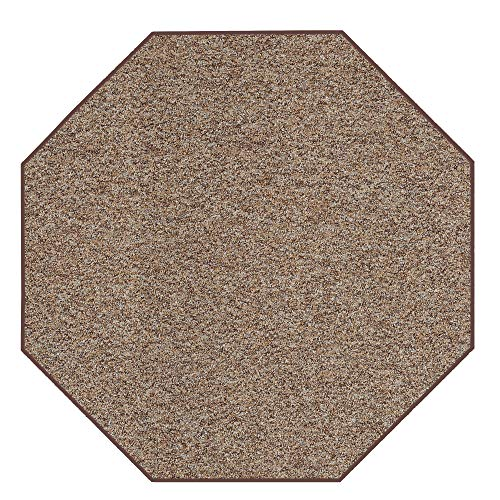 Outdoor Artificial Turf Ivory Tan Area Rugs with Premium Non Skid Backing Great for Decks, Patio's & Gazebo's to Pools, Docks & Boats and Other Outdoor Recreational Purposes 4' Octagon