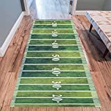 InterestPrint Retro American Football Field Modern Area Rug Carpet 10' x 3'3', Vintage Grunge Sport Decorative Floor Mat Rugs for Office Living Room Bedroom