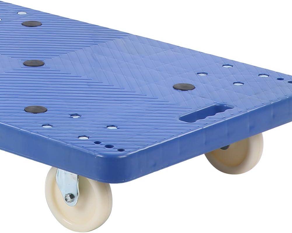 Carrello con Pianale Pieghevole capacit/à 360 kg Dioche Carrello a Piattaforma Carrello per Il Trasporto Carrello Scorrevole Trolley per Trasporto Magazzino 90 x 86 x 55 cm