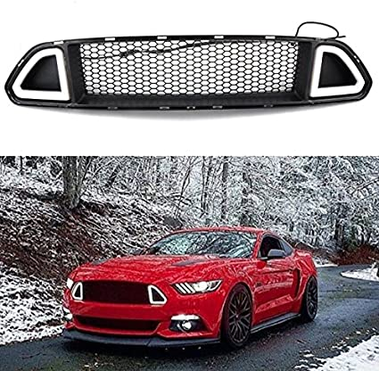 Para Ford Mustang parachoques delantero parrilla de campana con ...