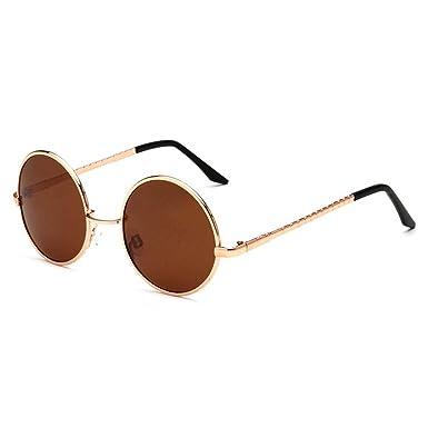 Amazon.com: fashion sunglass polarized classic Round Sunglasses ...