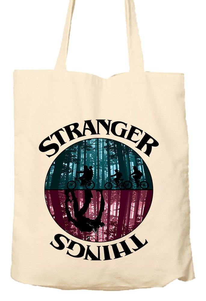 Stranger Things Environmentally Friendly Tote Bag Natural Shopping Bag