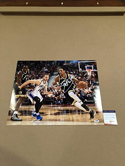 Demar Derozan Autographed Signed 16x20 Picture Toronto Raptors PSA DNA  Authentic NBA Star Mvp 23b3f8901