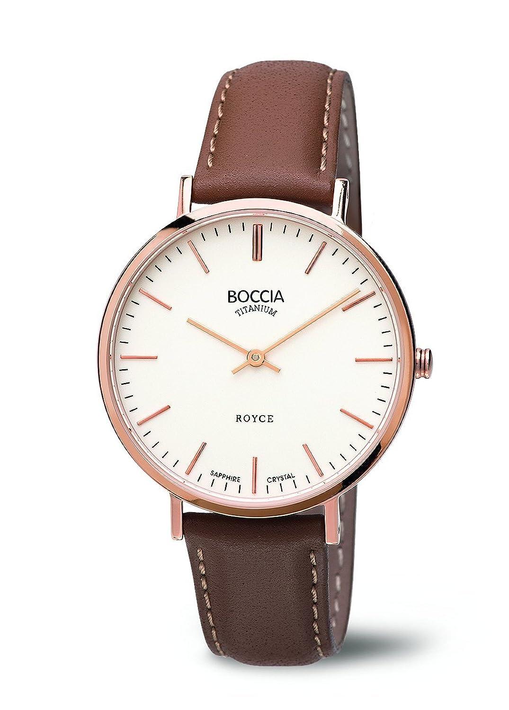 Boccia Damen-Armbanduhr Analog Quarz Leder 3590-05
