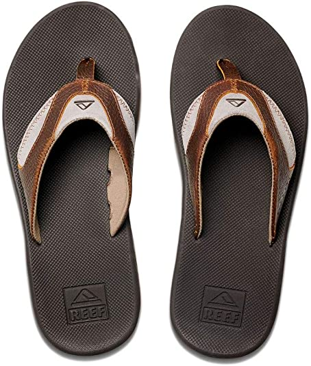 Reef 4 Leather Fanning, Chanclas para Hombre