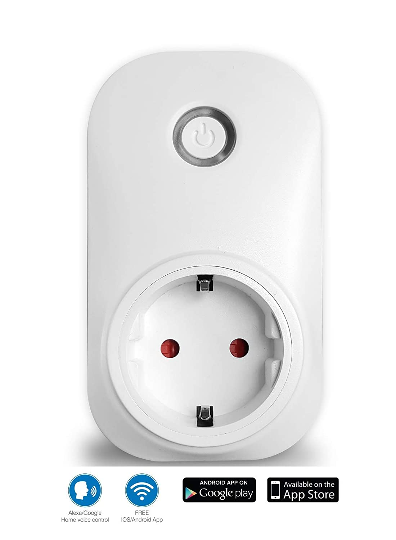 4 Unidades Control por Voz con  Alexa, Echo, Dot o Google Home, Control Mediante App Hauppauge mySmarthome Voice Plug WiFi Smart Enchufe