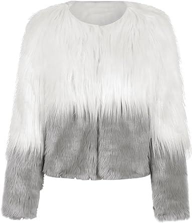 Raylans Womens Faux Fur Solid Color Waistcoat Coat Warm Sleeveless Vest Jacket
